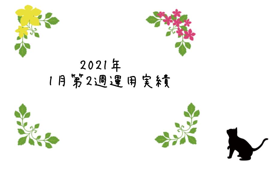 2021年1月第2週運用実績