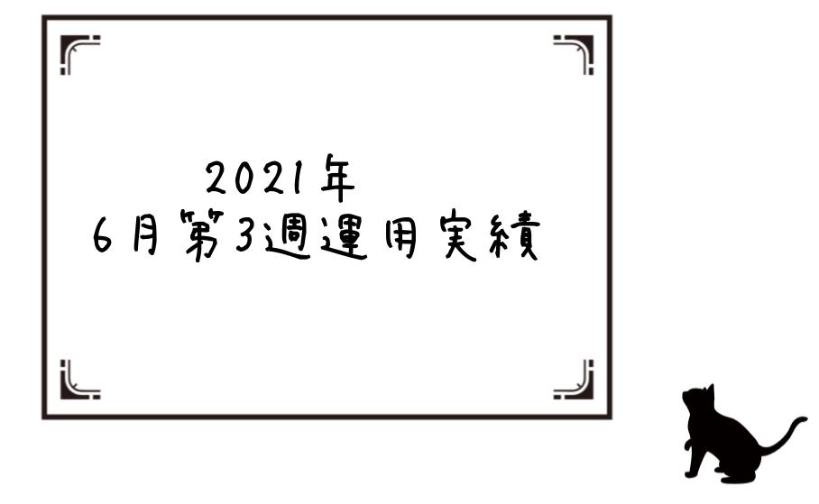 2021年6月第3週運用実績